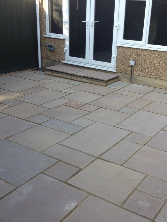 Raj Green Sandstone Paving Slabs - Mix Size Patio Pack (4200035516494)