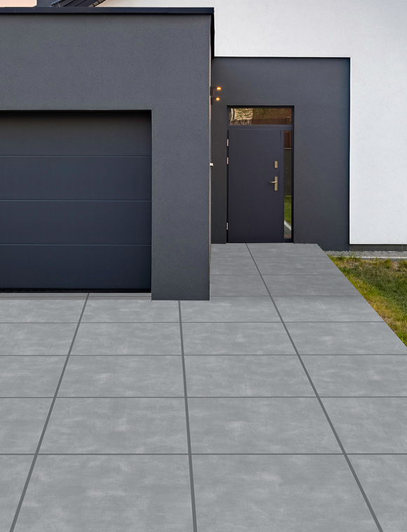 River Grey Driveway Porcelain Paving Slabs - 600x600x30mm (4896765706318)