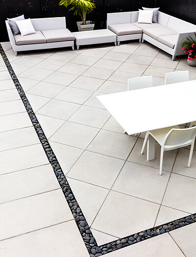 Rustico Ivory Outdoor Porcelain Paving Slabs - 600x600 mm