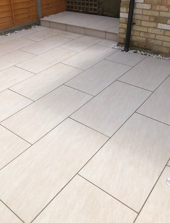 Tasos Cream Outdoor Porcelain Paving Slabs - 900x450 mm (4754580078670)