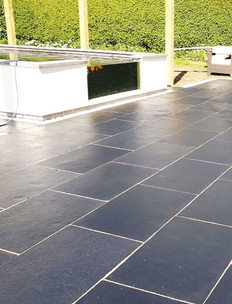 Midnight Black Limestone Paving Slabs - 900x600 Pack - Tiles and Smiles (4334823964750)