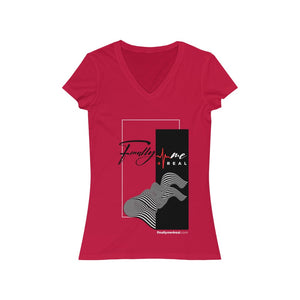 Finally Me Red Short Sleeve V-Neck T-Shirt
