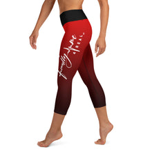 Load image into Gallery viewer, Red Finally Me Yoga Capri Leggings