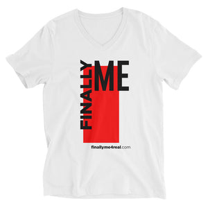 Finally Me White Short Sleeve V-Neck T-Shirt