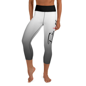 White Finally Me Yoga Capri Leggings