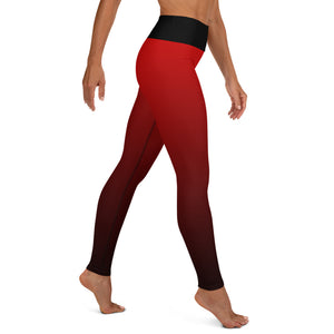 Red Finally Me 4 Real Yoga Leggings