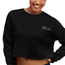 Load image into Gallery viewer, Black Embroidered FM4R Crop Sweatshirt