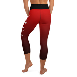 Red Finally Me Yoga Capri Leggings