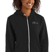 Load image into Gallery viewer, Black Embroidered FM4R Hoodie sweater