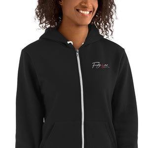 Black Embroidered FM4R Hoodie sweater