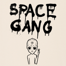 "Lade das Bild in den Galerie-Viewer, ""Space Gang"" backprint shirt"