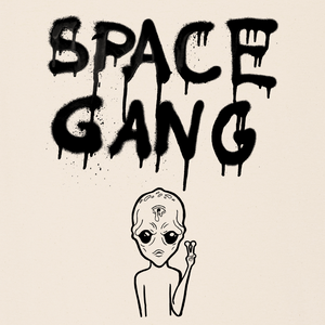 """Space Gang"" backprint shirt"