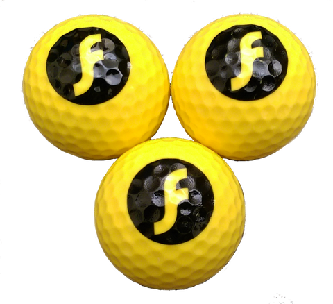High-visibility double-core Golf Balls - Perfect for FlingGolf