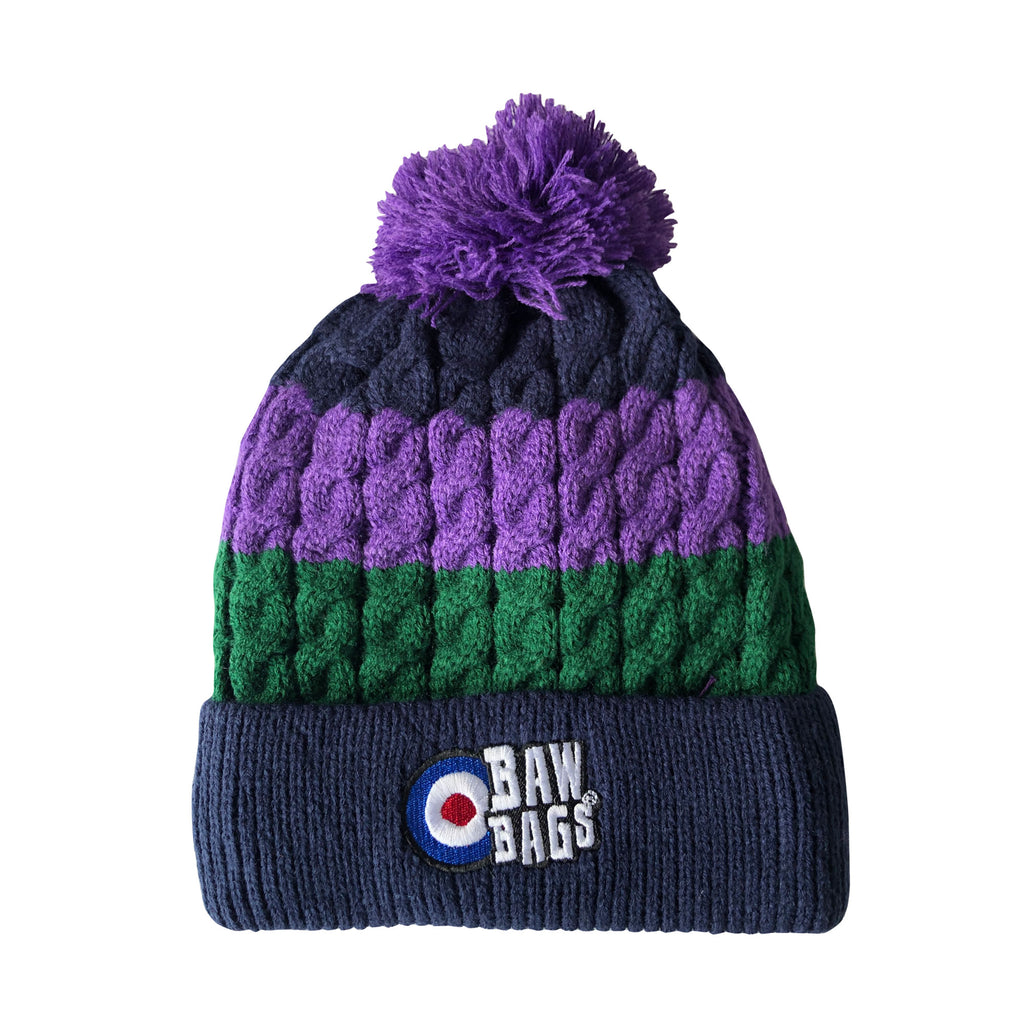 Premium Beanie - Purple/Green