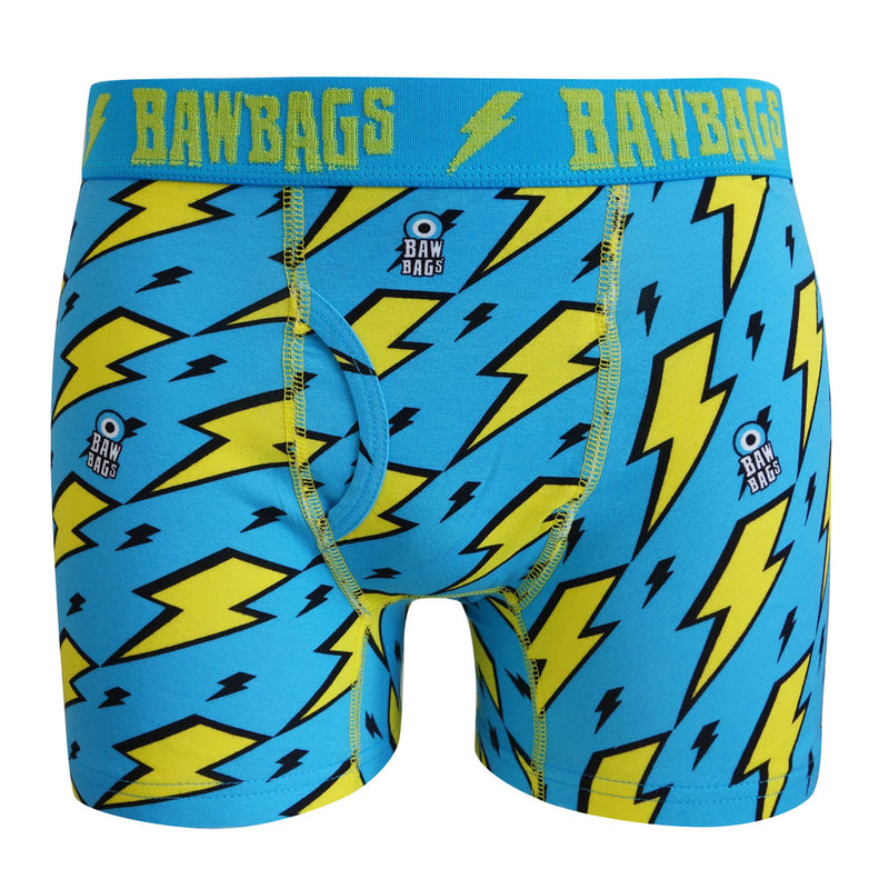 Kids Lightning Cotton Boxer Shorts