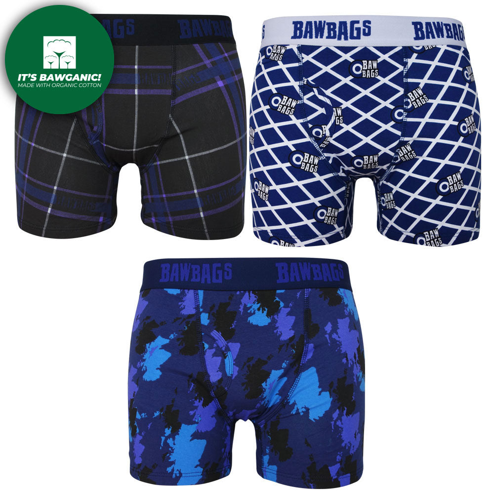 New! Scottish 3-Pack Cotton Boxer Shorts