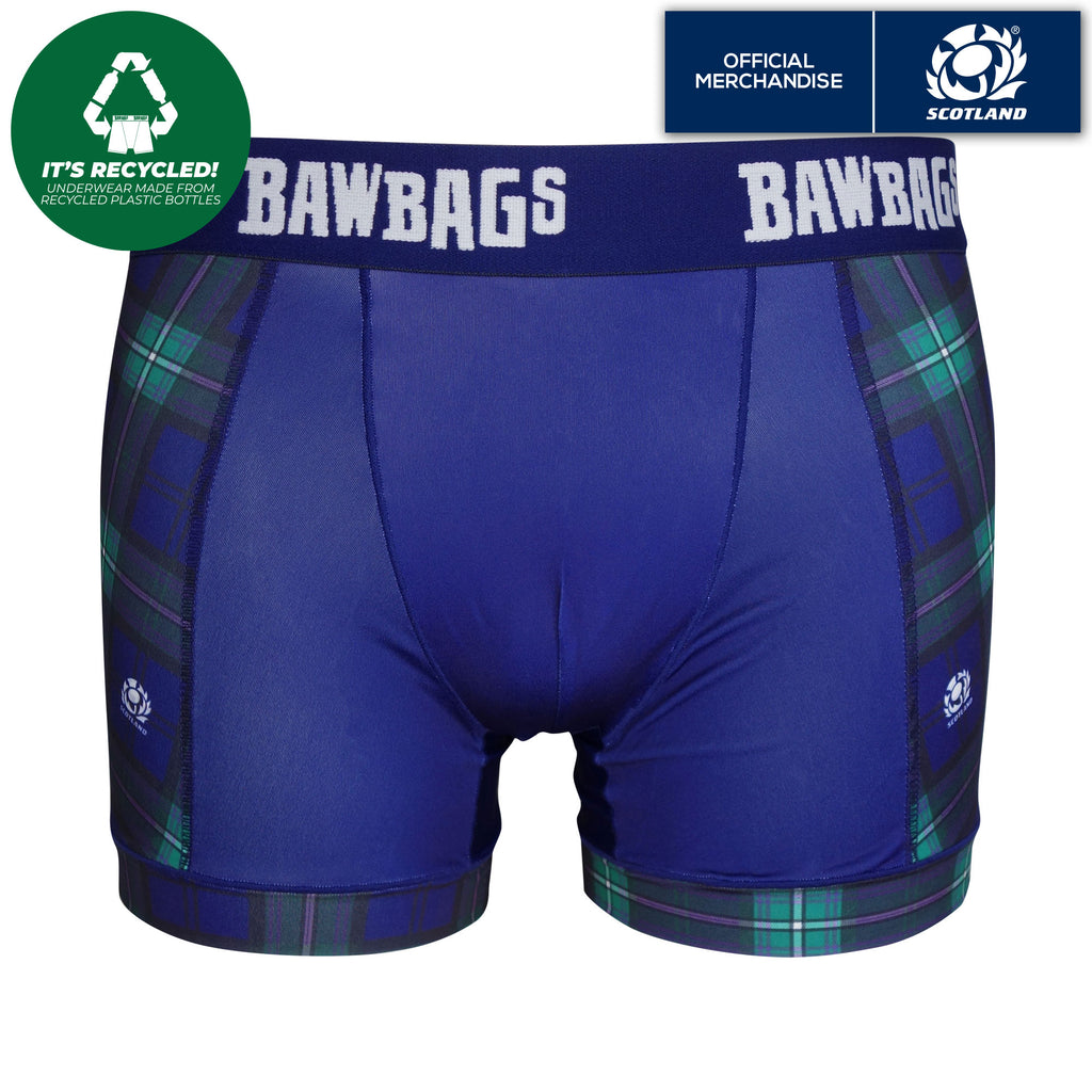 Cool De Sacs Scotland Rugby Team Tartan Technical Boxer Shorts