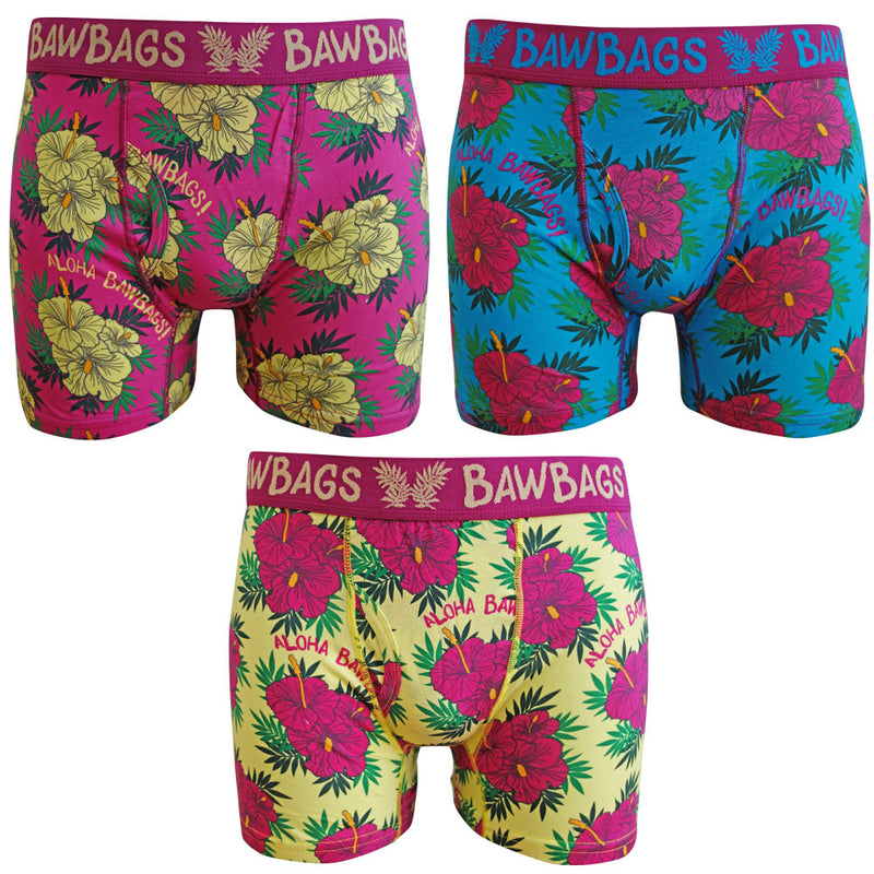 Aloha 3-Pack Boxer Shorts - Bawbags
