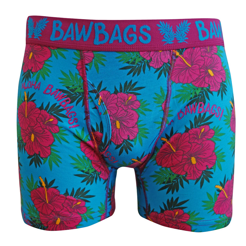 Aloha Blue Boxer Shorts - Bawbags