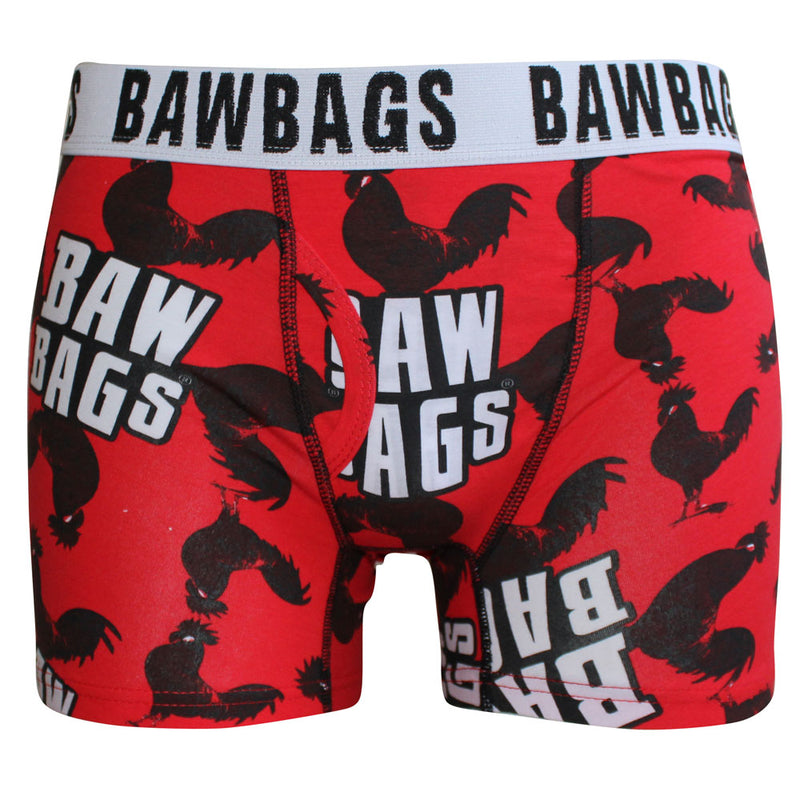 Cock Boxer Shorts - Red - Bawbags