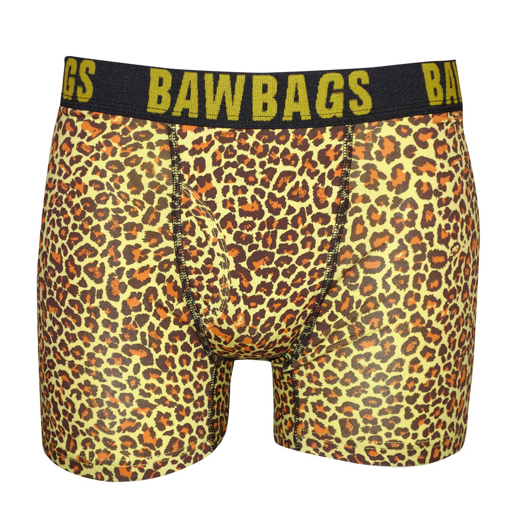 Leopard Boxer Shorts - Yellow - Bawbags