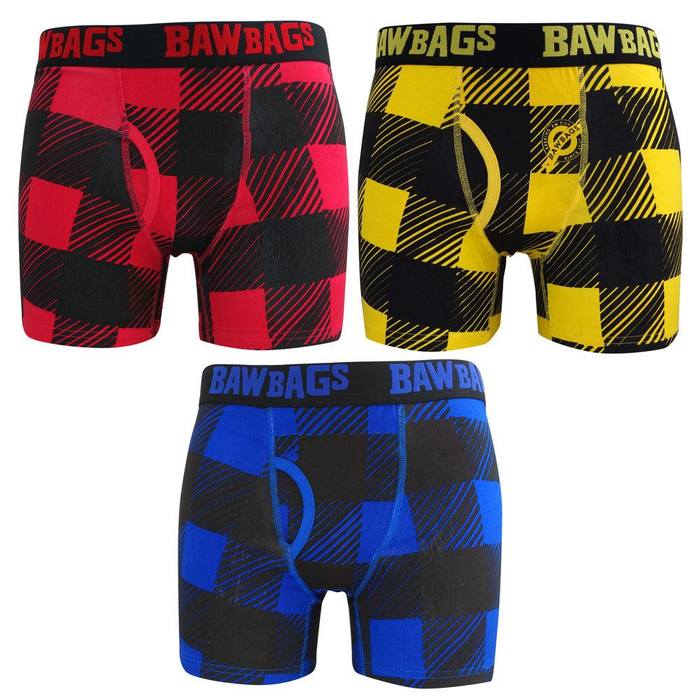 Plaid 3-Pack Boxer Shorts - Bawbags