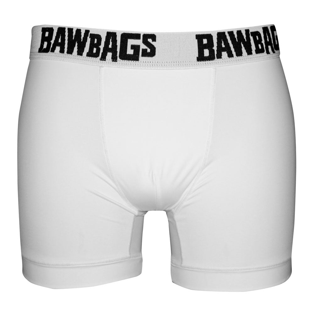 Cool De Sacs White Boxer Shorts - Bawbags