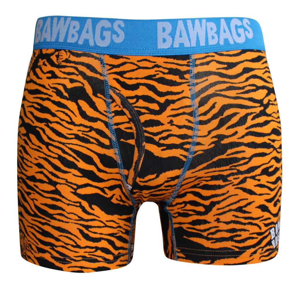 Tiger Boxer Shorts - Orange - Bawbags