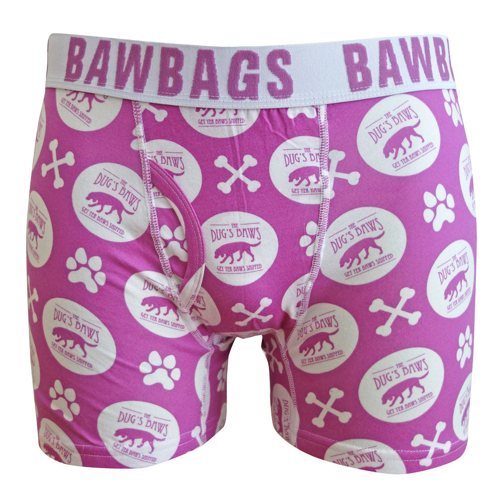 The Dug's Baws Boxer Shorts - Raspberry - Bawbags