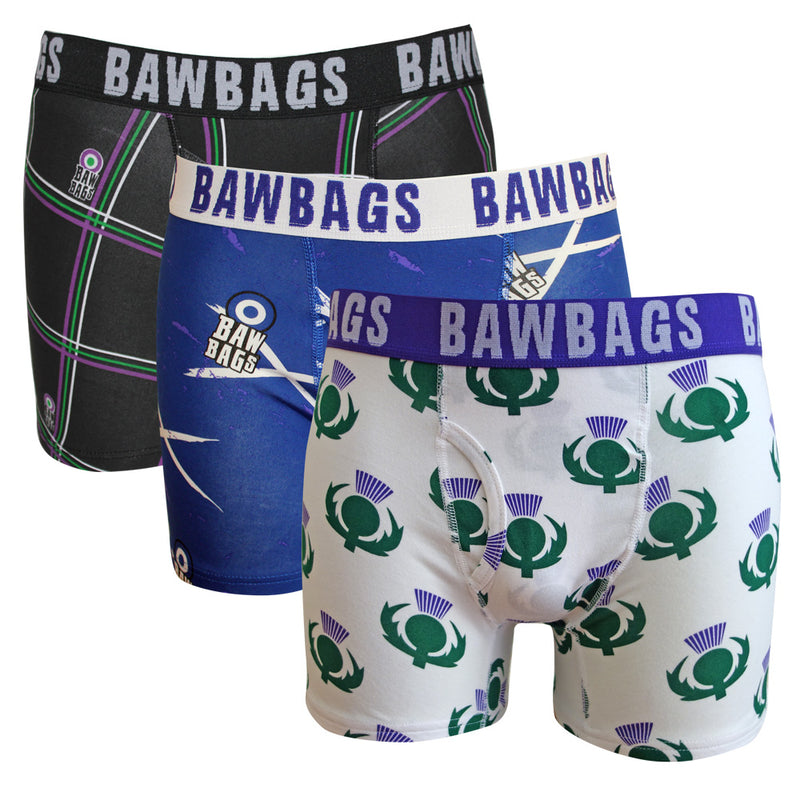 Scottish 3-Pack Boxer Shorts - Bawbags