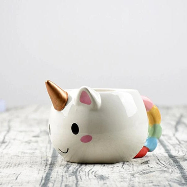 Rainbow horse unicorn cup