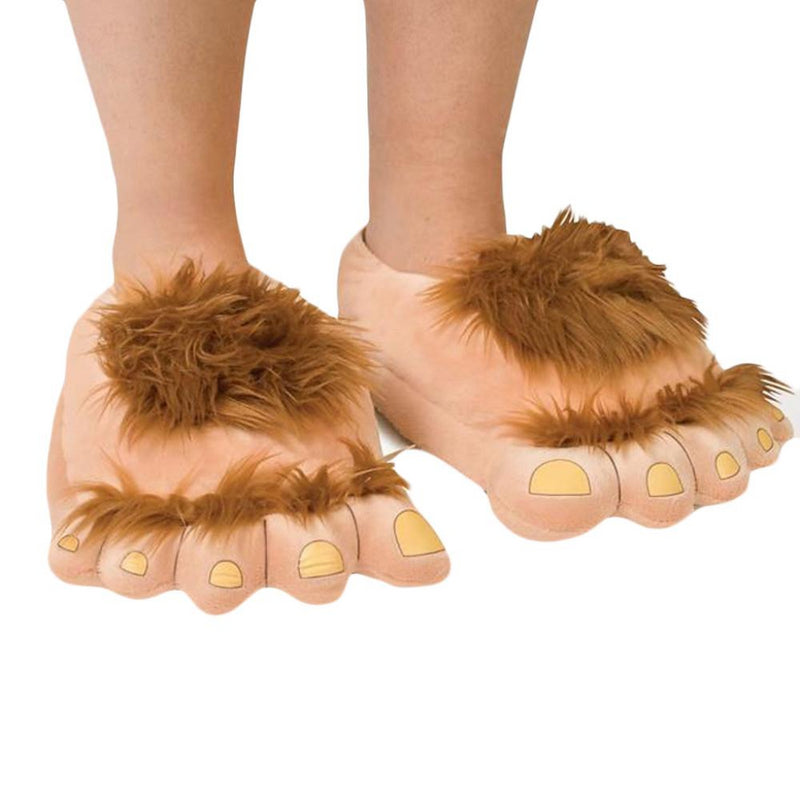 Trendy funny retro savage plush slippers
