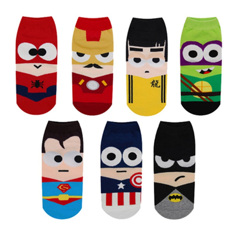 Marvel cartoon boat socks