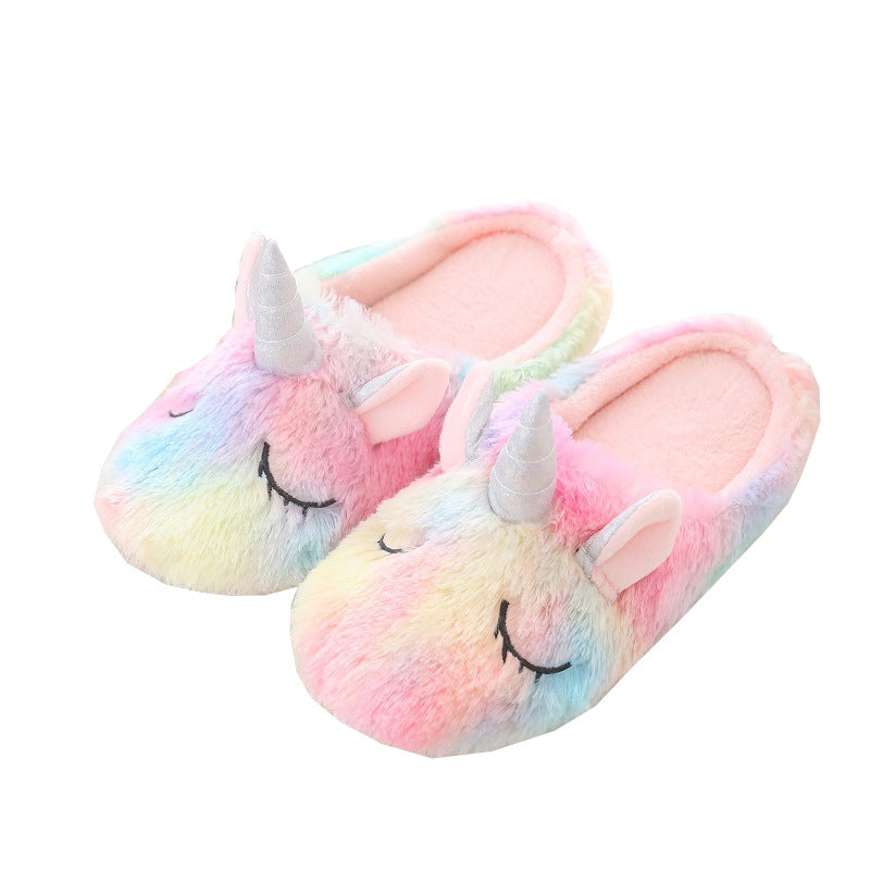 Sleepy Unicorn Scuff Slippers