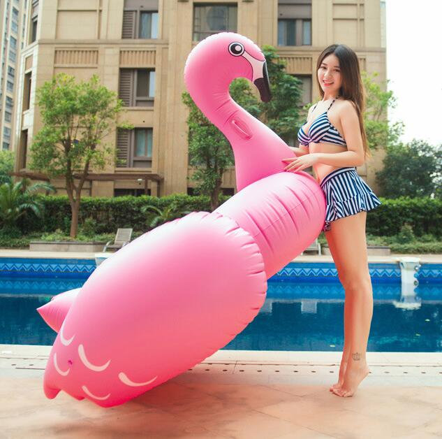 PVC Unicorn floating row swan swimming mount flamingo swimming lap inflatable floating row seat adult floating bed