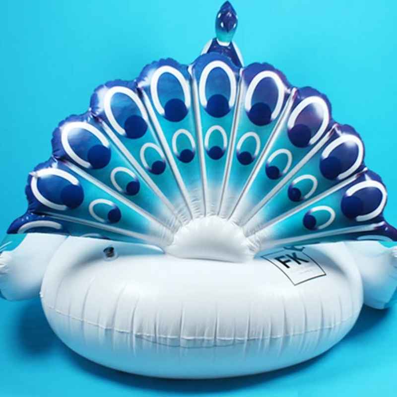 Peacock water inflatable mount floating bed floating row