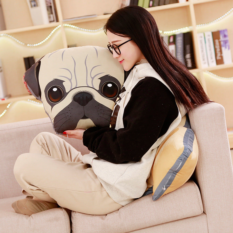 Cute Stuffed Simulation Dogs Plush Sharpei Pug Lovely Puppy Pet Toy Plush Animal Toy Children Kids Birthday Christmas Gifts