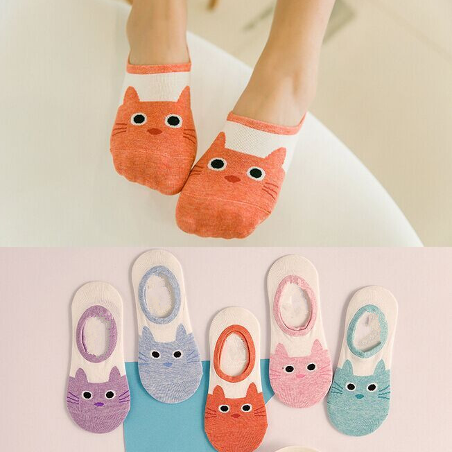 Warm comfortable cotton bamboo fiber girl women ankle socks female bottom invisible color girl boy