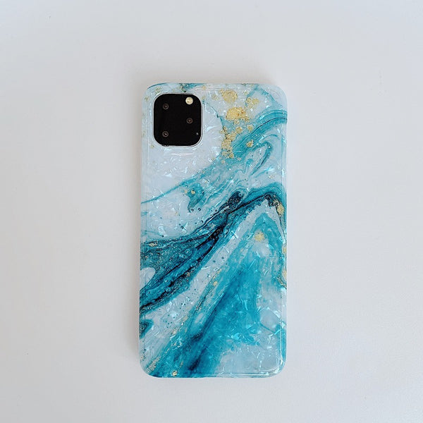 Marble shell soft shell phone case