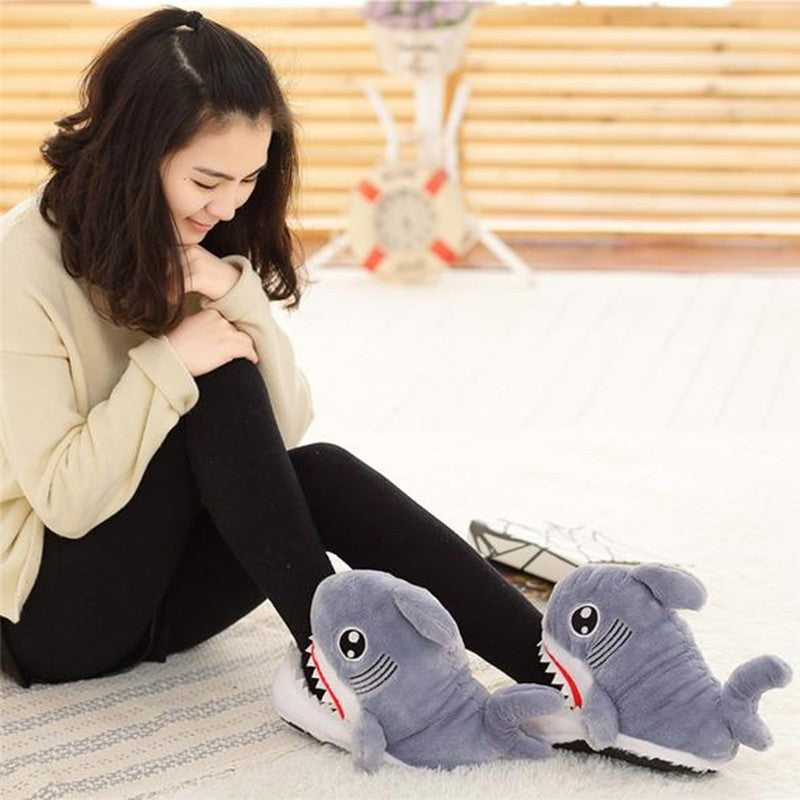 Shark Furry Slippers