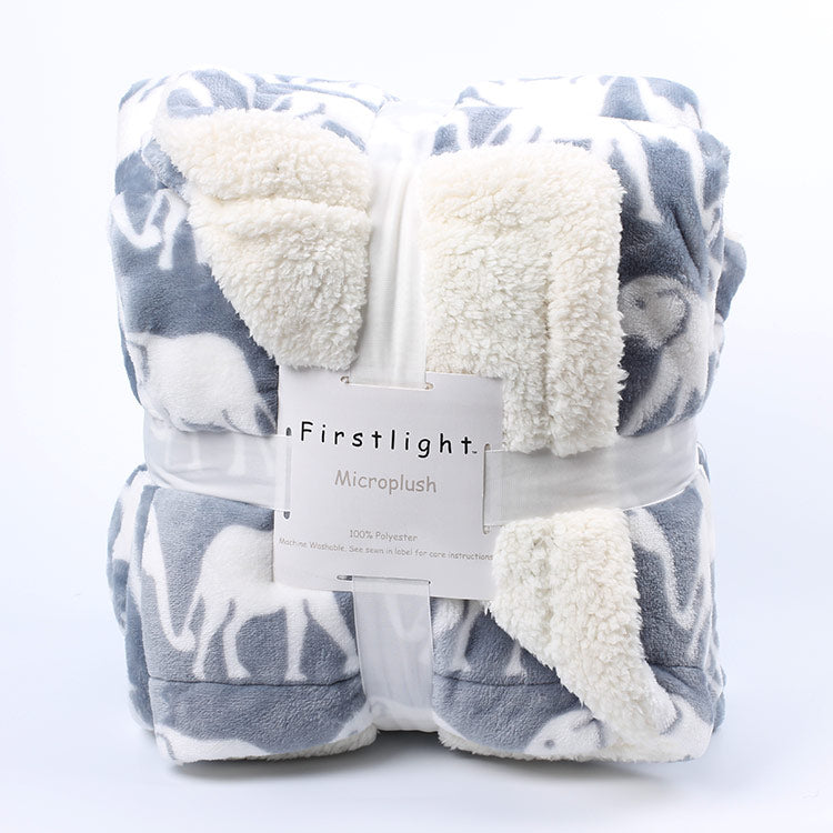 Patterned Microplush Throw Blanket