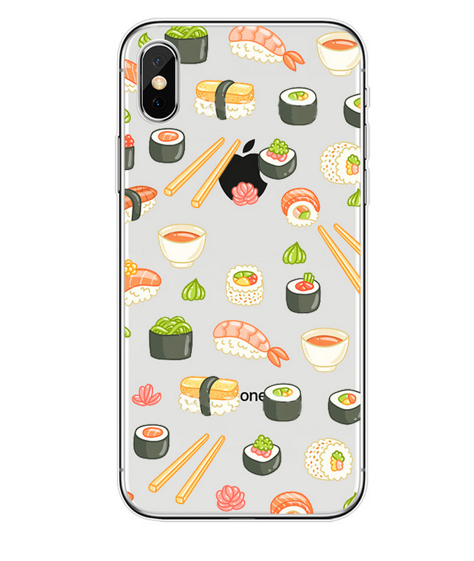 iPhone X hot selling cartoon watermelon fruit doughnut cell phone shell8 protective cover