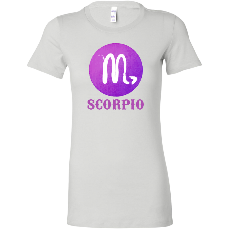 Scorpio Purple Watercolor Zodiac Tee