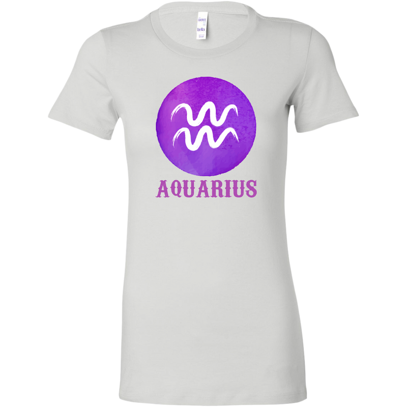 Aquarius Purple Watercolor Zodiac Tee