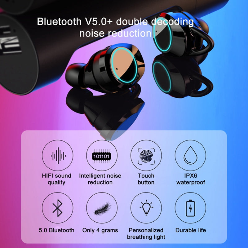Touch Control TWS Wireless Headphones Earbuds Mini Twins Stereo Headset With Mic 5.0 Bluetooth Earphones For Phone Auriculares
