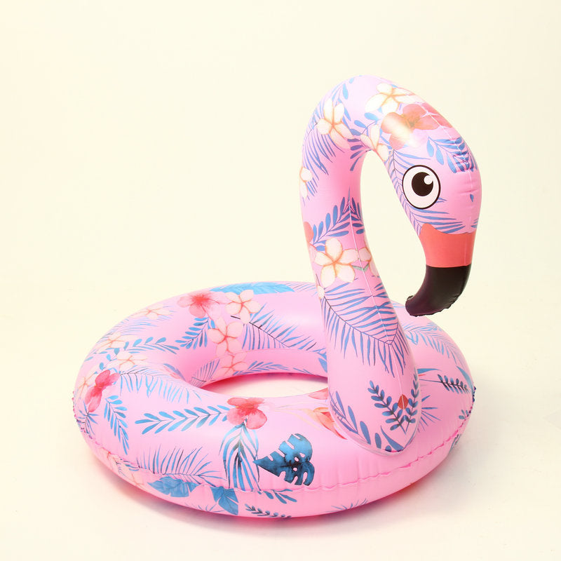 Swimming Pool Inflatable Circle for adult Printing Pink Inflatable Flamingo Children Swimming Ring
