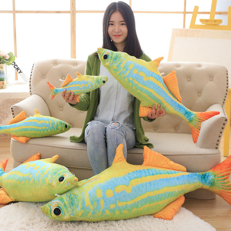 Deep sea fish cartoon doll plush toys color fish washable pillow children's birthday gift