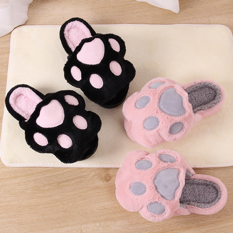 Manufacturers selling 2020 new couples and women winter cotton slippers paws cotton slippers wholesale
