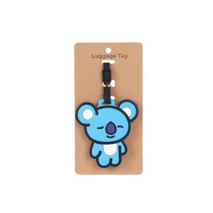 Vibrant Cartoon Luggage Travel Tags