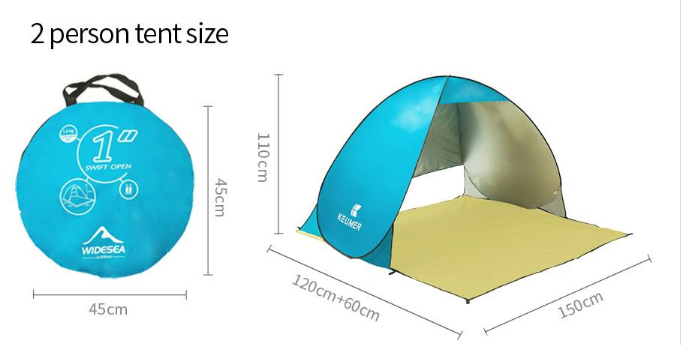 Beach tent UV protection sunshade double automatic tent camping tent